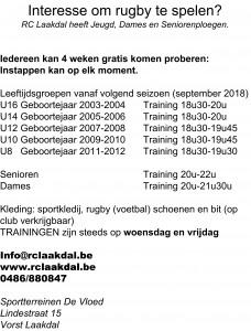 2017-2018 Achterkant folder rugby